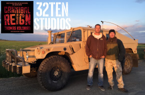 Chris Scott and Thomas Kolonair on location filming Cannibal Reign