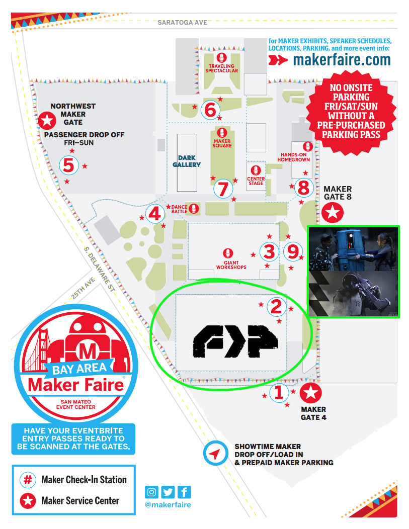 Maker Faire SF Bay Area May 17-19 | Megalithic Entertainment on roblox map, wedding map, new york map, halloween map, maker fair map,